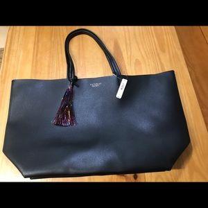 Victoria's Secret Black Tote Bag Open Weekender